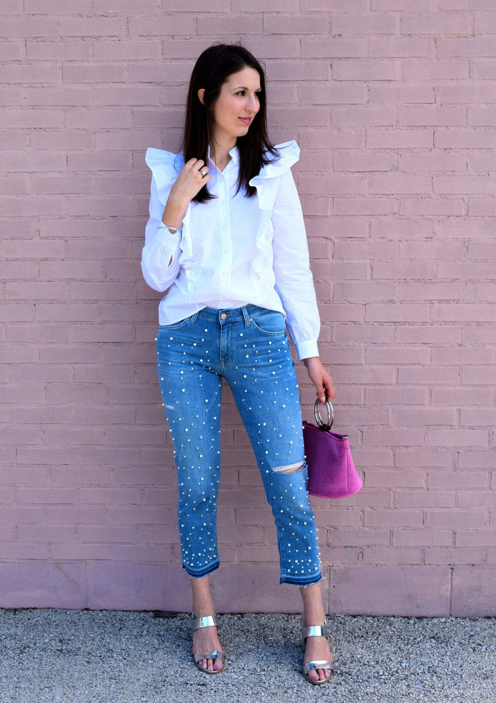 H&M Pearl Denim