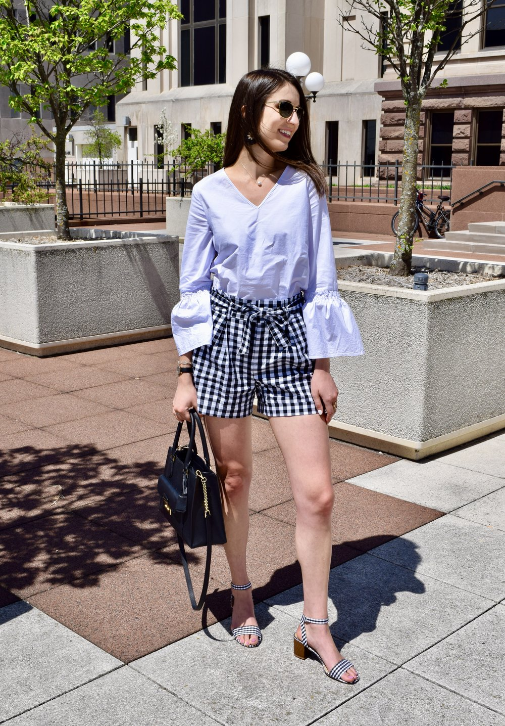 Gingham Paper Bag Shorts