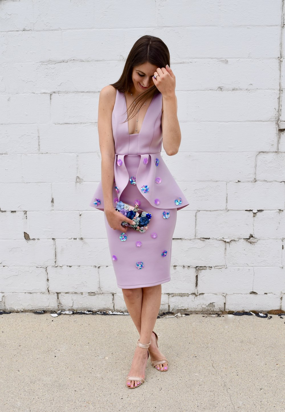Embellished Floral Dress