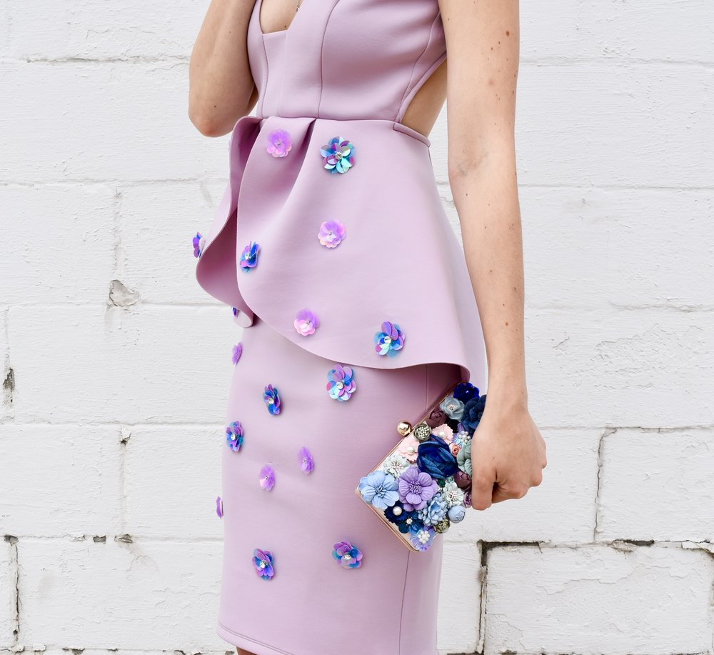 Floral Embellished Dress