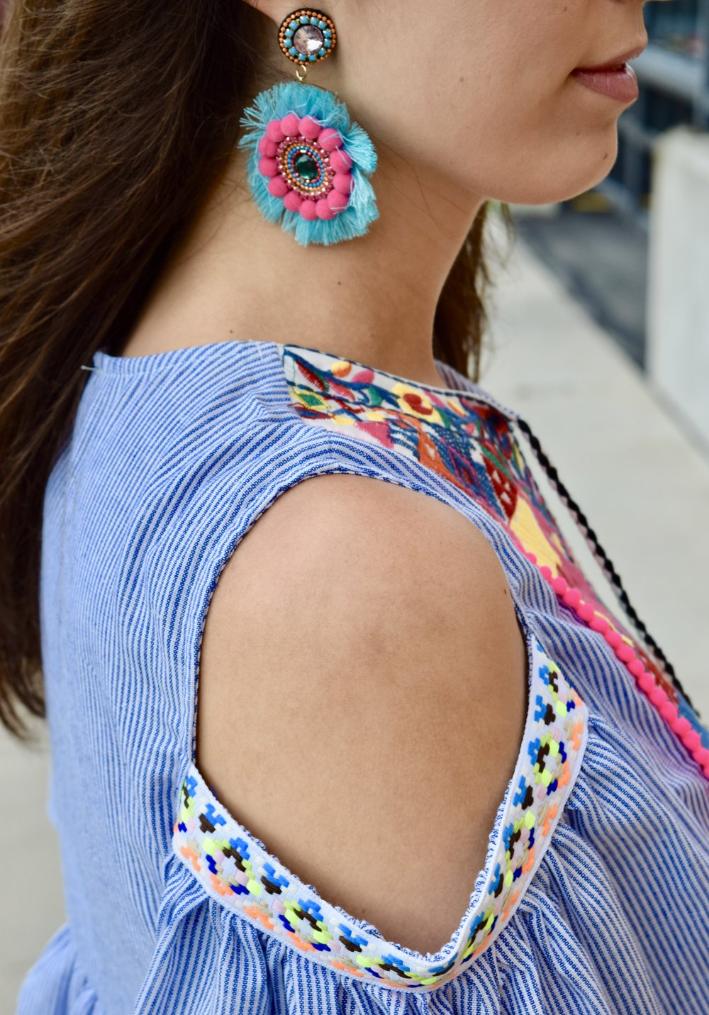 Pom Pom & Tassel Earrings