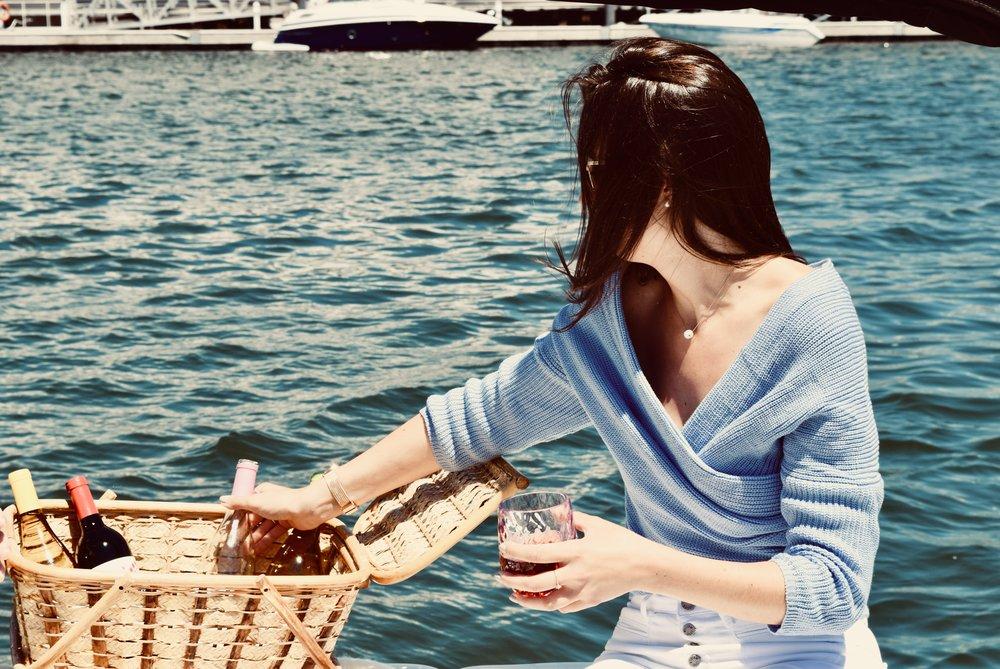 Muddy Boot Wine Boat Picnic
