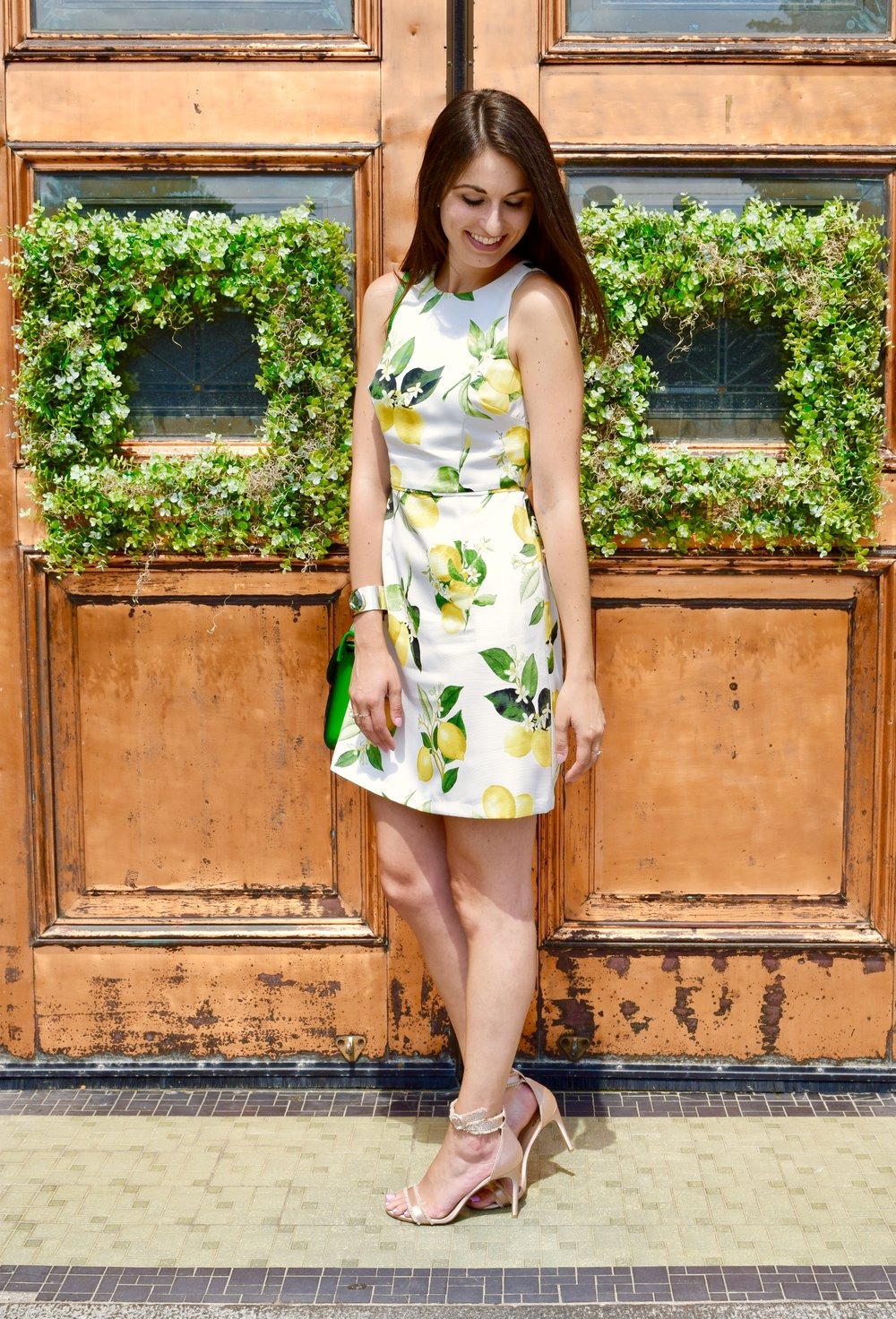 Lemon Print Dress