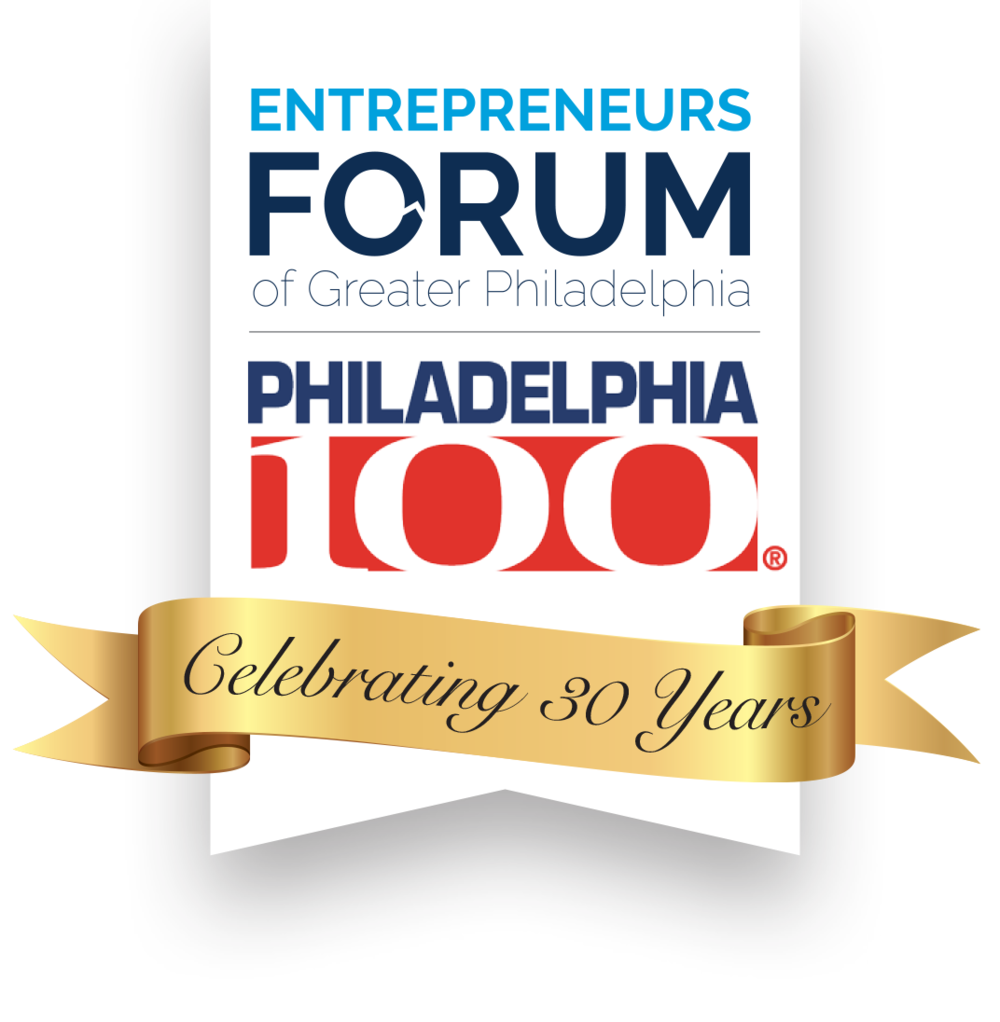 The Entrepreneur's Forum of Greater Philadelphia celebrated the 30th anniversary of the Philly100 in 2018.
