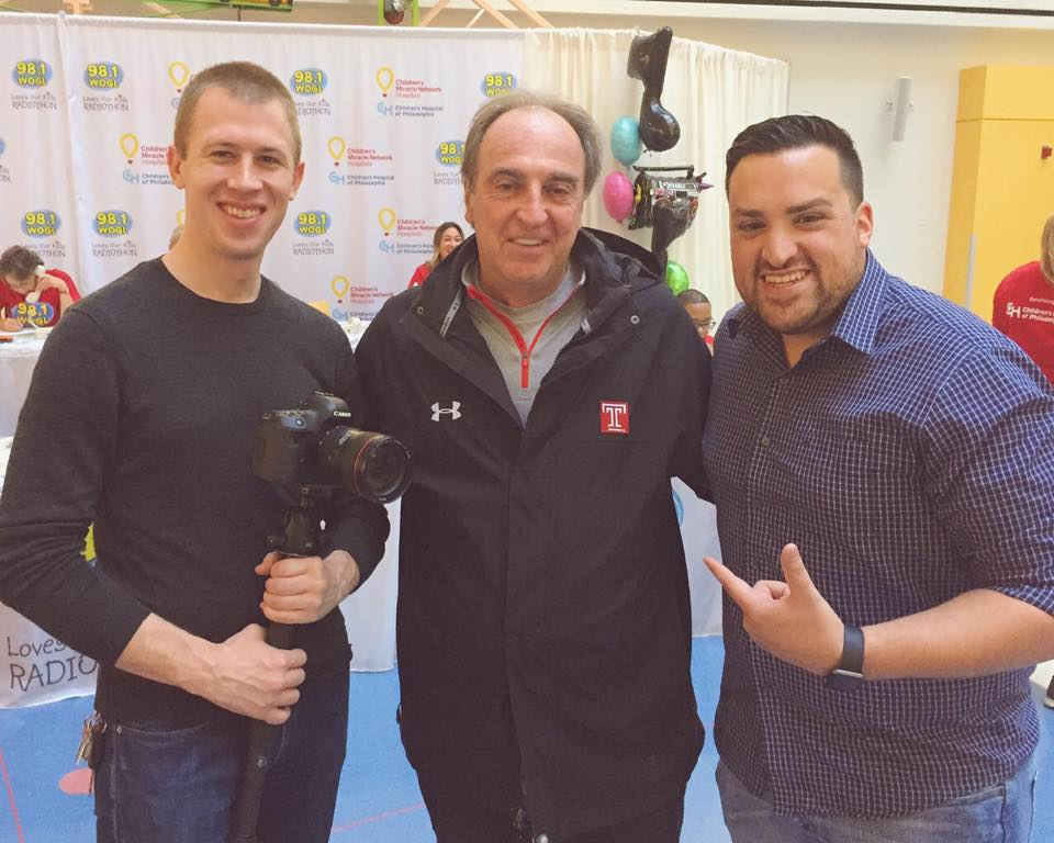 We ran into Coach Dunphy at the WOGL RadioThon in support of the Children's Hospital of Philadelphia. This is just one of many examples of Dunph donating his time to help others.