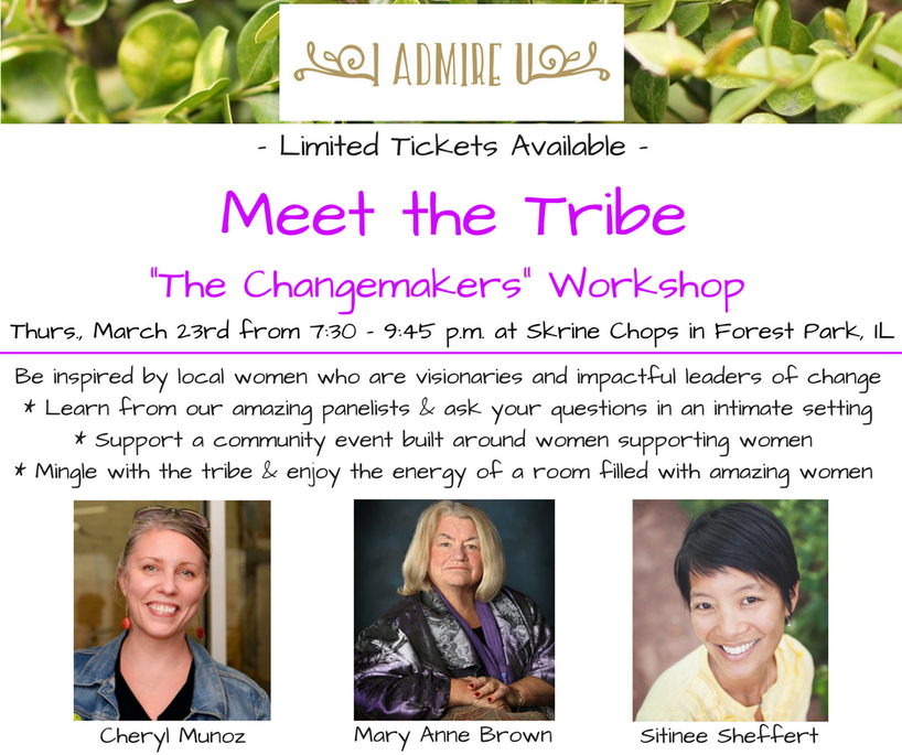 Join us and get inspired with a night full of great discussion, women supporting other women, and overall great energy!  Get your tickets here To learn more about the experts click here