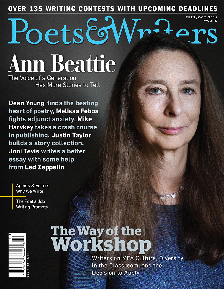 New work: cover story about legendary writer Ann Beattie for  Poets & Writers  magazine.   Image © Greta Rybus for Poets & Writers