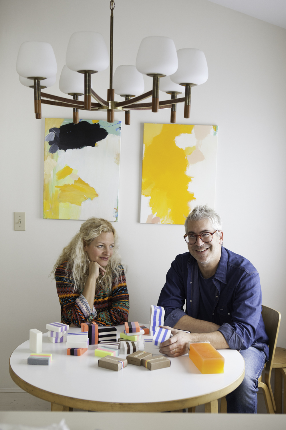 So fun to photograph Linda and John of Wary Meyers again, this time for Old Port Magazine. And in their new house!   Check out their soaps and candles here:  www.warymeyers.bigcartel.com    Image © Greta Rybus