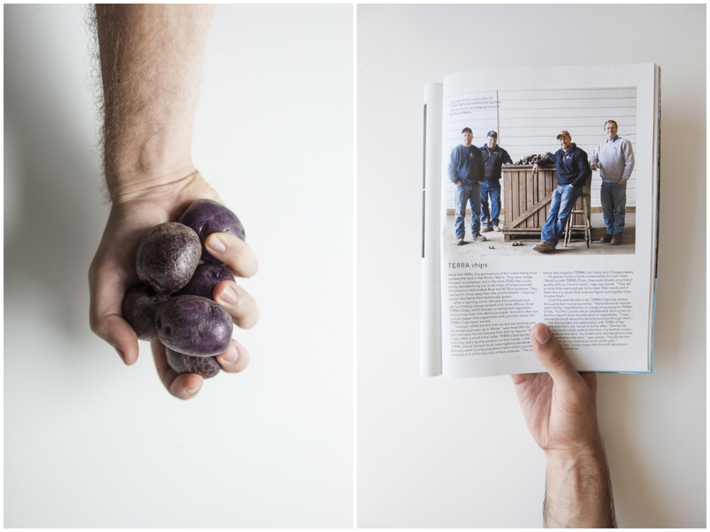 I loved shooting a portrait of a the  LaJoie family,  a group of purple potato farmers in Van Buren, Maine- one of the Northernmost towns of Maine. It was a wonderful assignment to shoot way back in snowy, muddy springtime for the summer issue of  Modern Farmer , one of my favorite magazines!    All images © Greta Rybus.