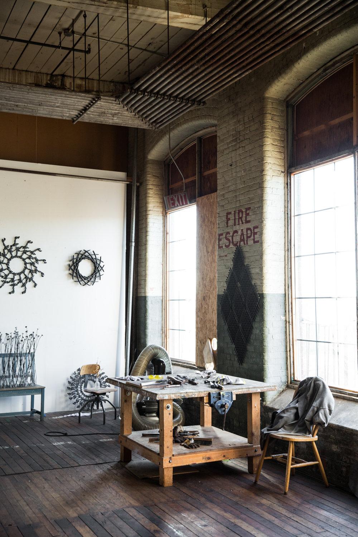Artist John Bisbee's Studio