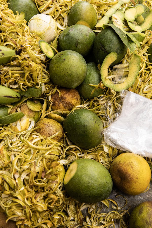 Street food - citrus in Zanzibar