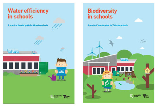 ResourceSmart Schools ' 'How to' guides:  ' Water efficiency in schools ' ' Biodiversity in schools '