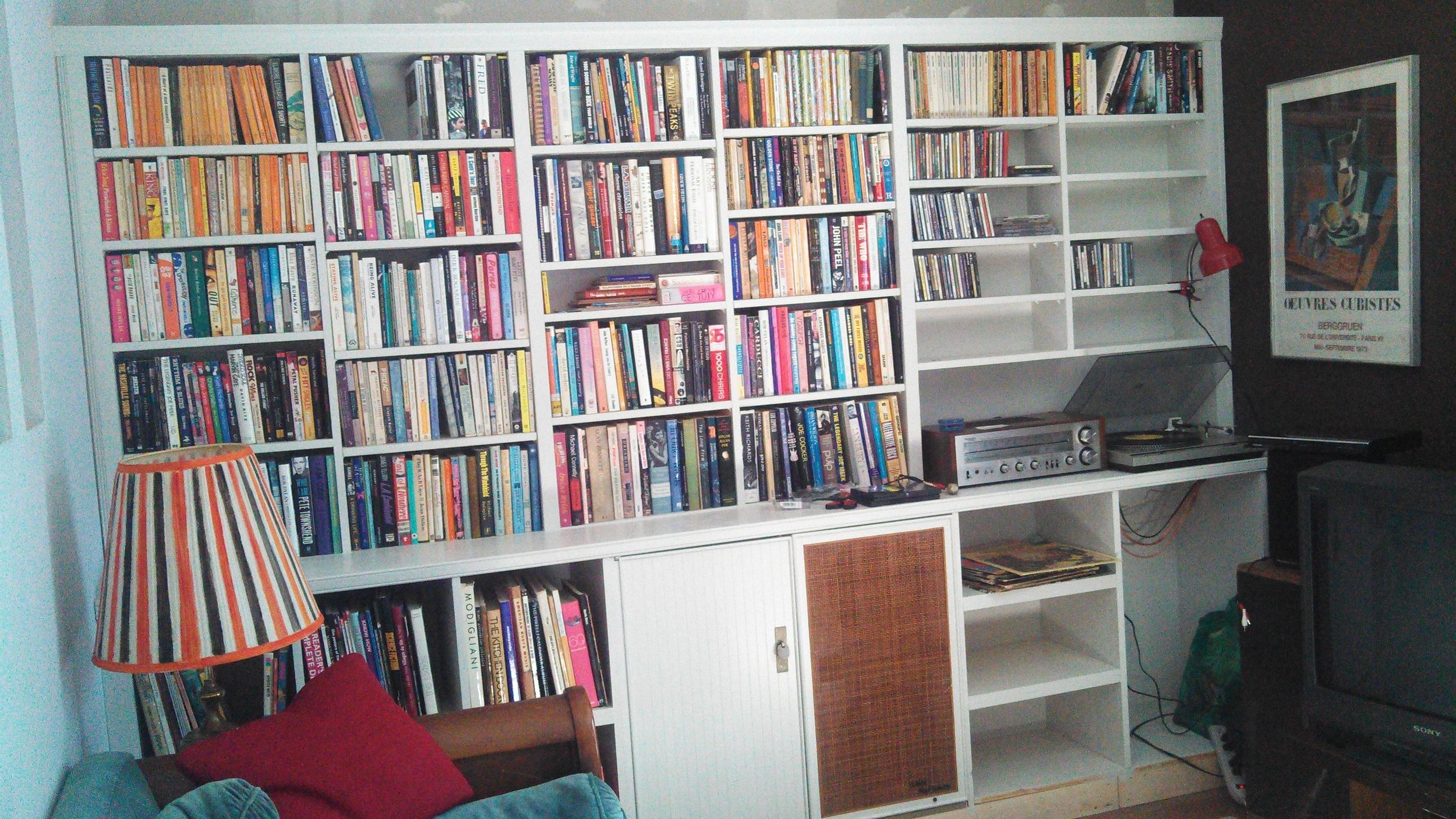 bookshelf in progress