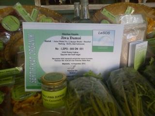 Jiwa Damai Organic certificate
