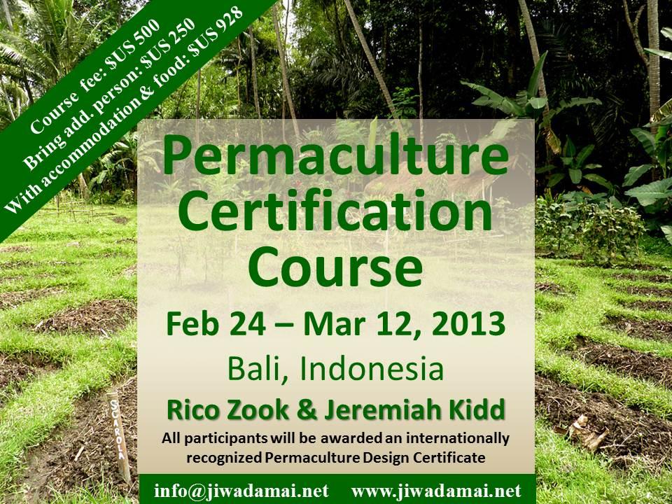 Permaculture Design Certification Course — Jiwa Damai Bali
