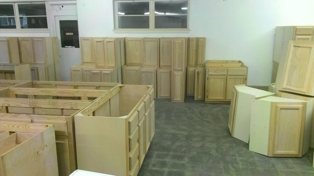 Unfinished Oak Cabinets