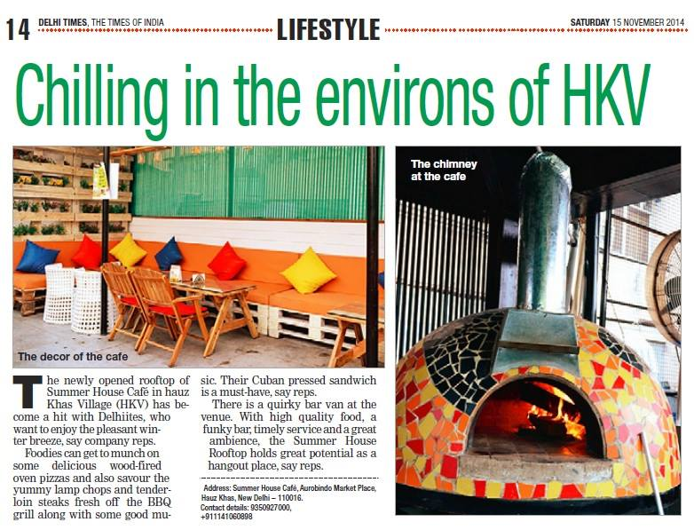 Delhi Times, The Times Of India, 15 November 2014