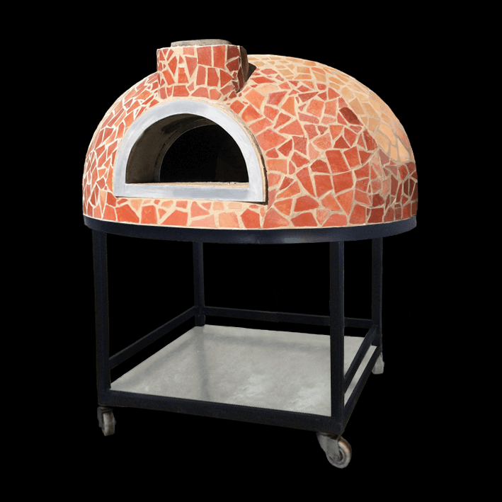 Semi-Mobile-Wood-Fired-Oven-With-Tile-Mosaic-Finishing-Il-Forno-By-Marco