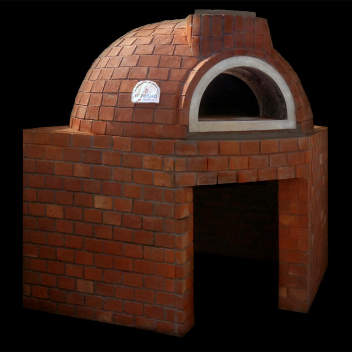 Dome Shaped Pizza Oven With Red Bricks  Finishing