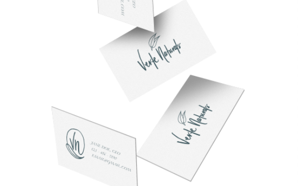 Falling business cards mock-up