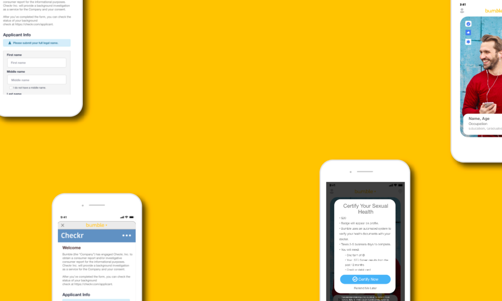 Bumble App Iteration - UX/UI   Mobile