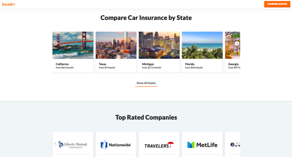 Insurify-Home Page Redesign in Prod SS3 030119.png