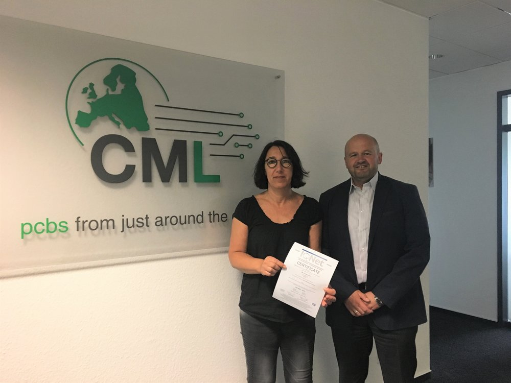 Beate Möller, Technical Account Manager CML Europe und Martin Schneider, Sales Director CML Europe