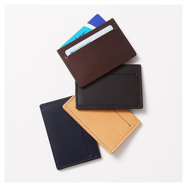 Back at Netil market, Hackney tomorrow with new stock of these brand new card holder designs. All of our products are made from vegetable tanned leather and available in 4 colours. Look forward to seeing everyone tomorrow  @netilmarket