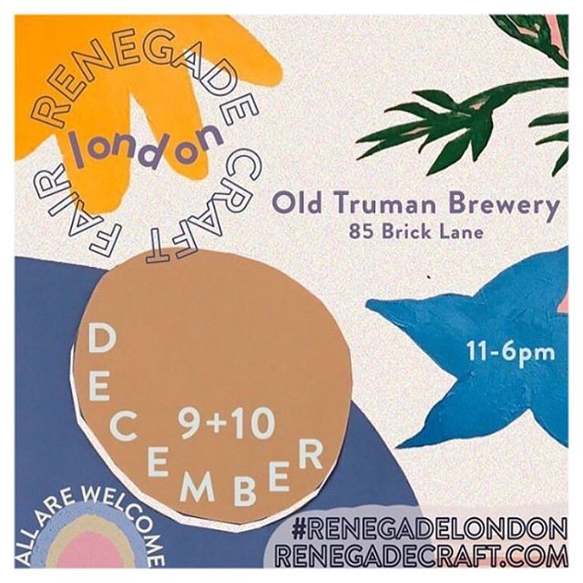 BRIGGS + SHEARS will be at the Renegade Craft Fair tomorrow and Sunday. It's at Truman Brewery on Brick Lane from 11.00 - 6.00. Come visit us and find some great Christmas gifts from over 200 independent designer makers.