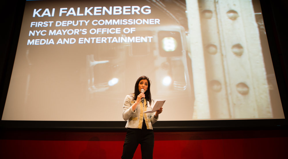 Kai Falkenberg, First Deputy Commissioner, NYC Mayor's Office of Media and Entertainment, at Demo Day