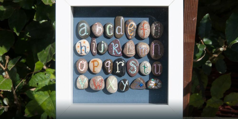 Framed pebbles
