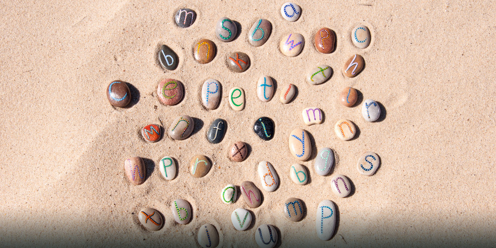 Small alphabet pebbles