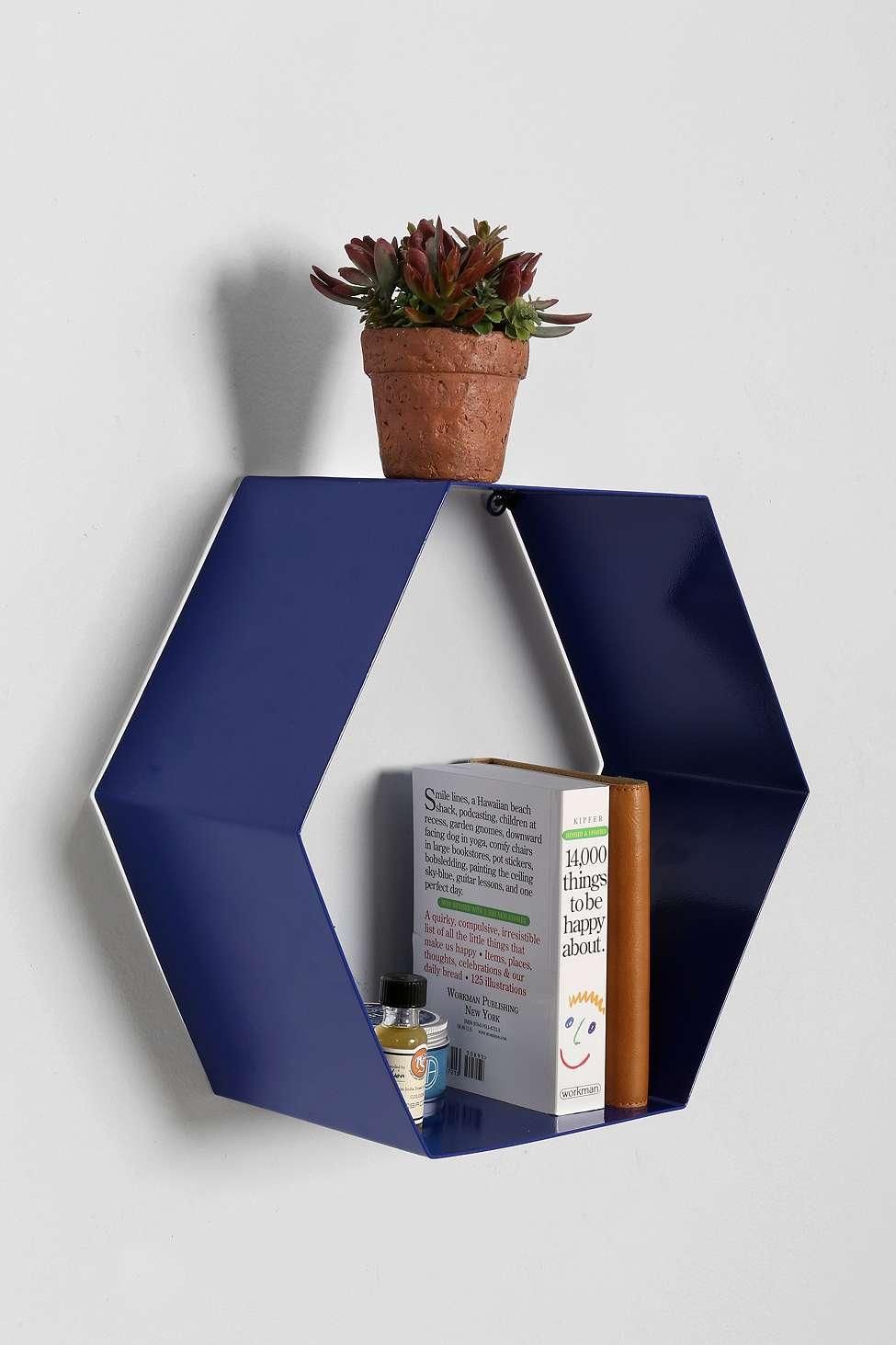 BLue Hexaganol shelf £25 Urban Outfitters