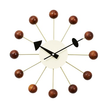 Ball clock £49.95 www.vita-interiors.com