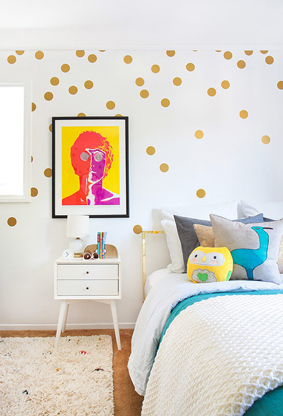Gold spot wall decals £17.20 Wall Affection at www.etsy.com