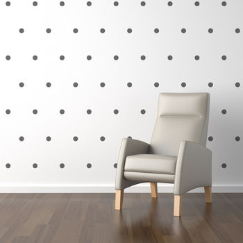 Mini polka dot wall stickers www.notonthehighstreet.com