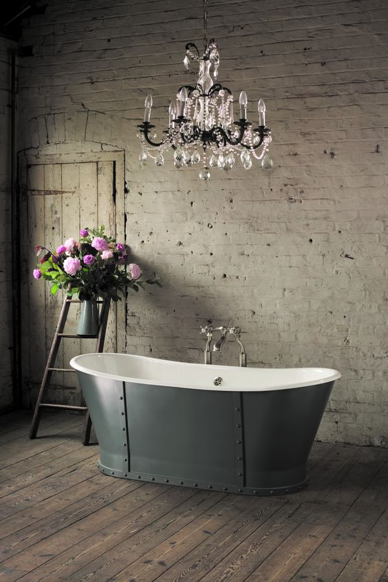 Grey steel tub by Aston Matthews