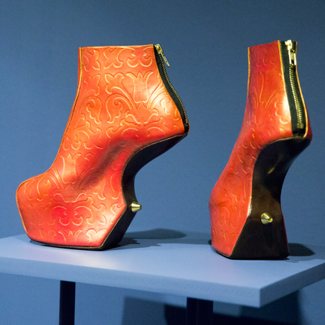 Shoes from the 2015  V and A Pleasure and Pain Exhibition