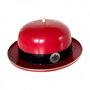 Signed Arne Jacobsen red bowler hat ceiling light £425  Layer Home