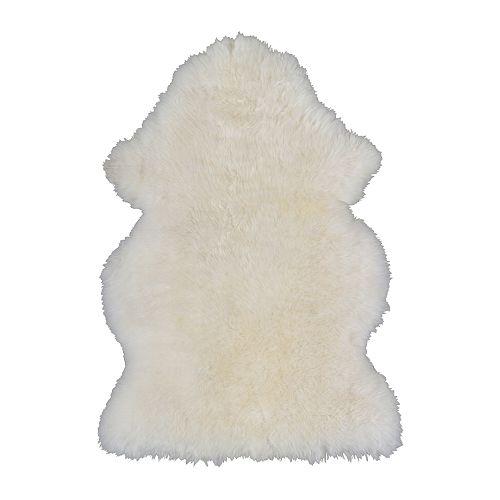 Ludde white sheepskin £30  www.ikea.com