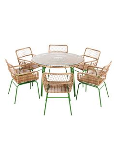 Lyra 6 seater dining table in Green by  Made.com
