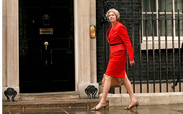 New PM Theresa May puts her best foot forward