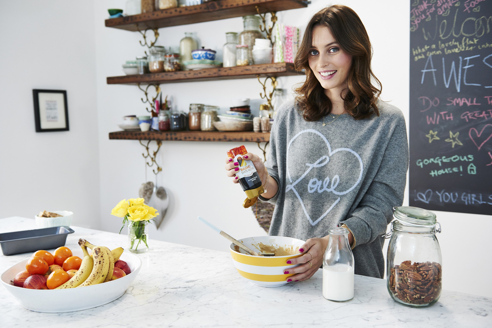 White walls and colour pops are  Deliciously Ella's  trademark style
