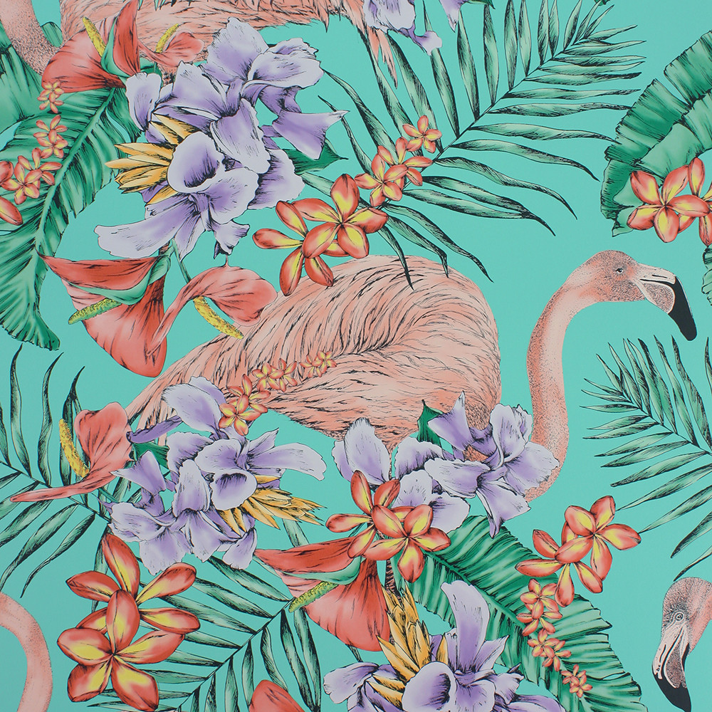 Matthew Williamson Flamingo Club wallpaper from  Amara.com