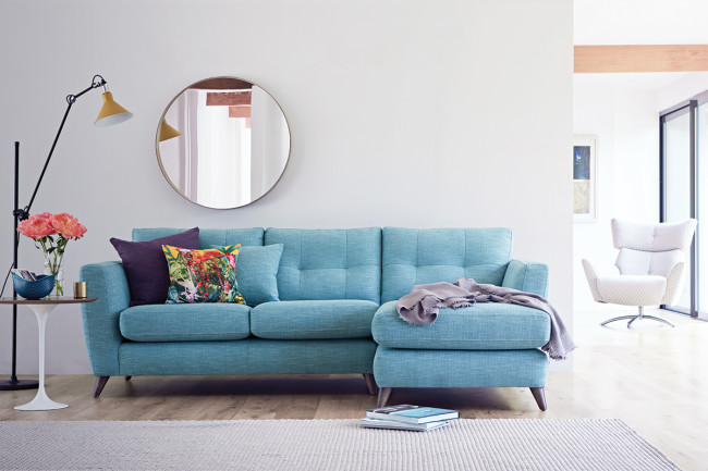 Let the sofa see the cushions! Holly corner chaise from The Lounge Co.