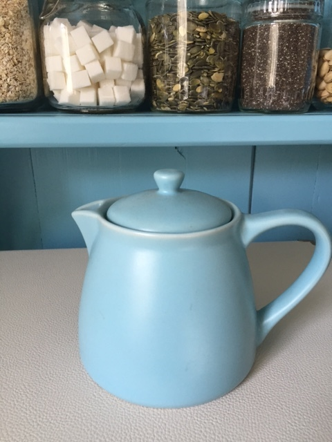 Vintage teapot from my collection of all things sky blue (Did someone say hoarder?)