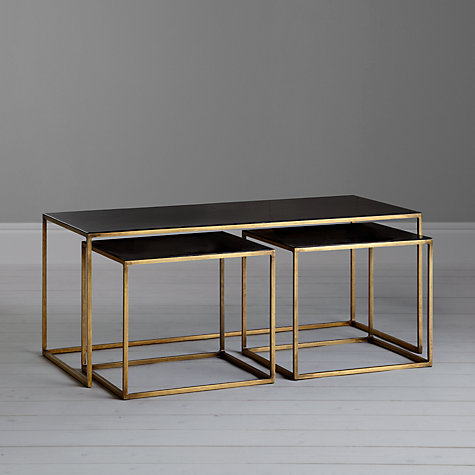 Black enamel coffee table and 2 side tables £599  John Lewis