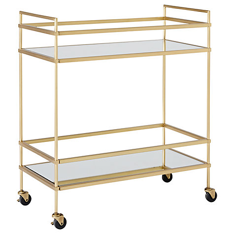 Brass bar cart £339 John Lewis