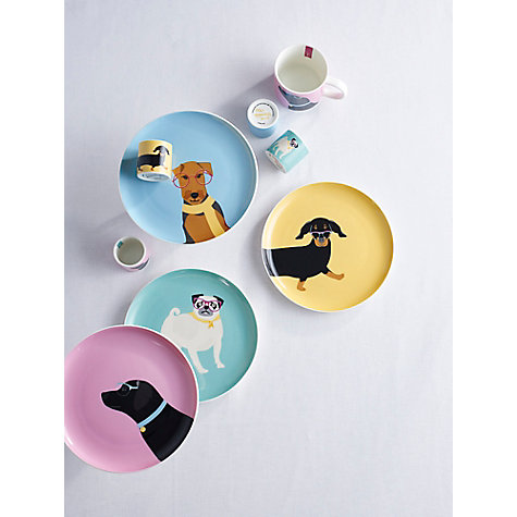 Joules dog plates and mugs from £9.95 John Lewis