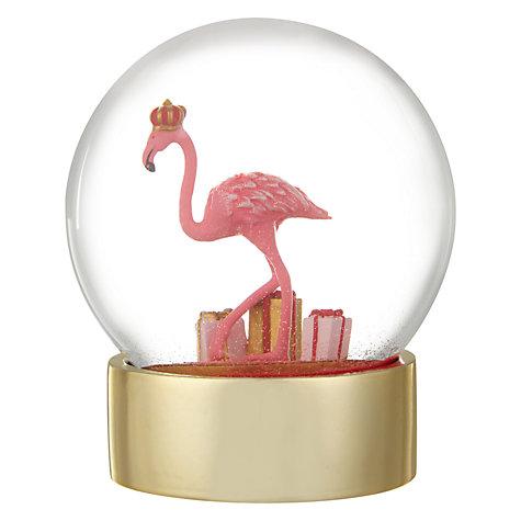Flamingo snow globe £15  John Lewis